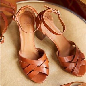 Madewell size 9 English saddle leather sandals